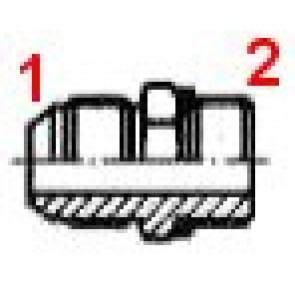 UNION MALE GAZ 9/16J-1/2G