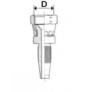 EMBOUT JIC CONE 74   1/4