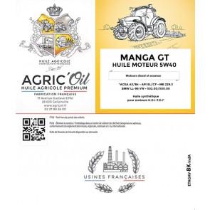 Huile moteur 5W40 MANGA GT 220L