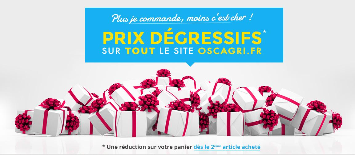 Prix dégressifs sur tout le site Oscagri.fr