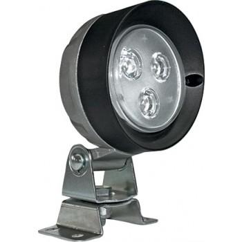 PROJECTEUR CABINE ROND 3 LEDS-VERRE LISSE
