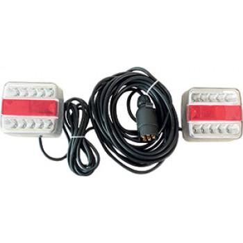 KIT SIGNALISATION  7M50 A FIXER A LED ENTRE FEUX 2.5M BLANC RO