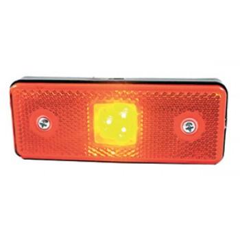 CATADIOPTRE RECTANGULAIRE ORANGE 110X41 A LED