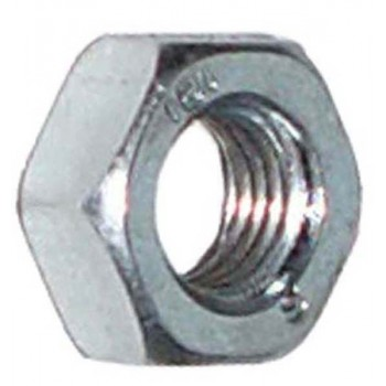 Contre-écrou M12 fine 1,5 Zinc Pas plaqué