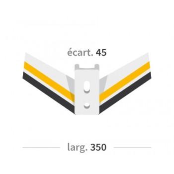 AILERON DECHAUMEUR CARBURE- EA45 - Ø12