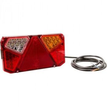 Feu arrière LED rectangle droit cablé