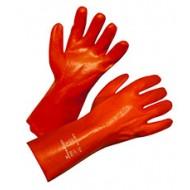 Gants de protection PVC 35cm rouge taill