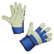 Gants de travail JUNIOR bleu taille 4-6