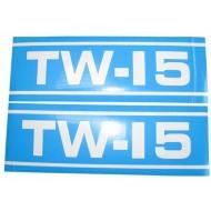 Autocollant Ford TW15 Q Cab bleu et blan