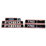 Autocollant Ford/New Holland 7710 Force 2 Rouge & Noir