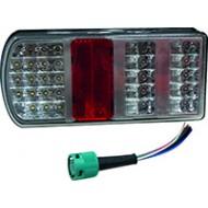 FEU LED 6 FONCTIONS Gauche 228x106 - Entraxe152 mm - 12/24 V