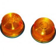 FEU DE POSITION ROND diamètre 75 mm couleur orange
