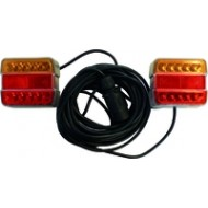 KIT SIGNALISATION MAGNETIQUE 12M A LED ENTRE FEUX 4M ORANGE ROUGE