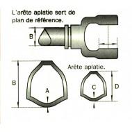 MACHOIRE 30.2X91.4 TUBE TRIANGLE 54X4