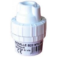 DOUILLE SIMPLE BAGUE NYLON B22