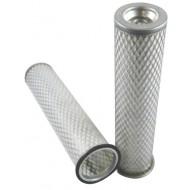 Filtre à air sécurité pour tractopelle JCB 3 CX moteur PERKINS 337001->399999 AC 50383/50290
