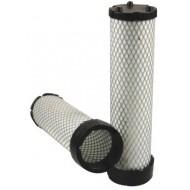 Filtre à air sécurité pour tractopelle CASE-POCLAIN 580 SR 4 PT moteur CNH 2007->