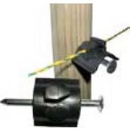 Isolateur pour fil à clouer sur piquet bois (livré avec clou) carton de 1000