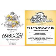 Huile transmission TRACTANS CAT SAE 10W 60L