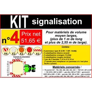 KIT SIGNALISATION  N°4 : 2 Bandes / 6 Panneaux / 6 Catad.