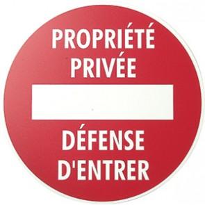 """PANNEAU """"DEFENSE D'ENTRER"""" D.290"""
