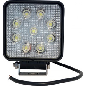 PHARE DE TRAVAIL CARRÉ 9 LED 27W 1800 LM
