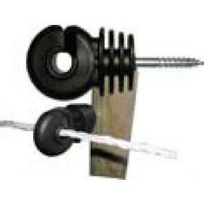 Crochet noir isolant à vis droite (carton de 100)