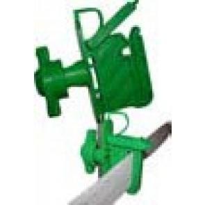 Isolateur VERT sécurisé tous fils et rubans / piquets bois ou bétons (par 100)
