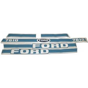 Kit Autocollant Ford 7610 - Avec cabine