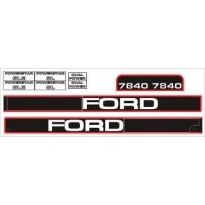 Kit Autocollant Ford NH 7840 - jusqu'à 96