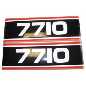 Autocollant Ford 7710 Super Q Cab noir e
