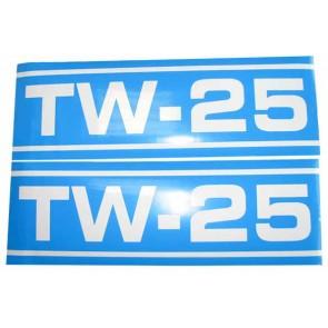 Autocollant Ford TW25 Q Cab bleu et blan