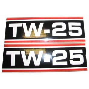 Autocollant Ford TW25 Super Q Cab noir e