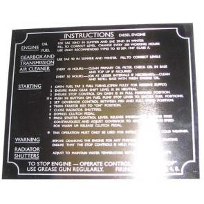 Badge tracteur Fordson Major Plaque Commission