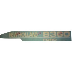 Autocollant capot Ford/New Holland 8360 Gauche