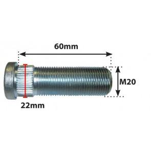 Goujon de roue 20mm