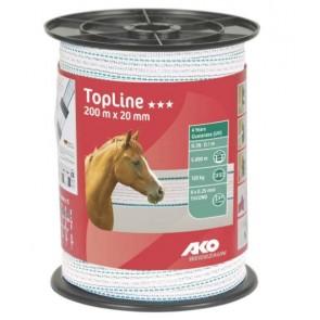Rubans 20mm de clôture TopLine Plus-200M
