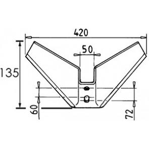 AILERON LARG.420X8 EA  60 A 75   25°