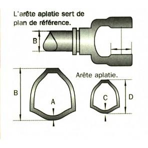 MACHOIRE 30.2X91.4 TUBE TRIANGLE 45X3.8