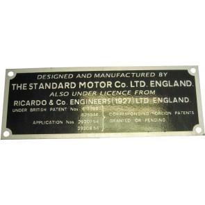 Badge Tracteur 20 D - I.D. Plate - Ricardo