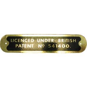 Badge Tracteur 20 D - Plaque de brevets