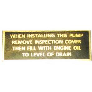 Badge Tracteur 20 D Pompe d'injection Plate Simms