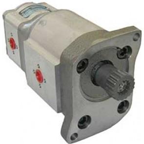 Pompe hydraulique sortie 25 + 8cm3 Valtra Valmet séries 6000 et 8000