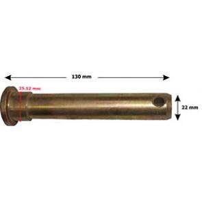Axe d'attelage 130 mm de long diamètre 22 mm
