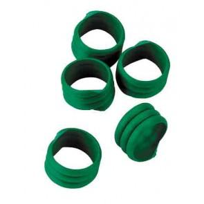Bague d'identification 16mm vert coque d