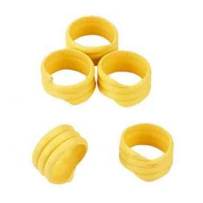 Bague d'identification 16mm jaune coque