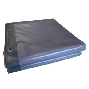 BACHE 28m2 630gr/m² COULEUR GRIS / VERT / dimension 8,0 x 3,5m