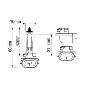 AMPOULE 12,8V/50W H886