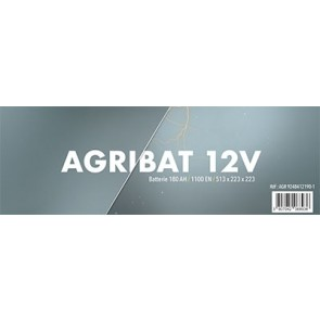 BATTERIE 12V 180AH 1100EN BORNE+ GAUCHE 513X223X223