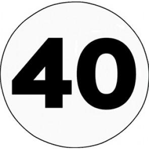 disque limitation vitesses 40 km/h tracteur